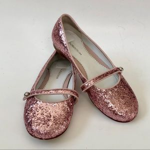 Vintage Nordstrom pink glitter Mary Janes